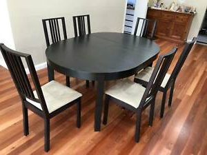 Ikea Extendable Round Table With 6 Chairs (View 10 of 25)