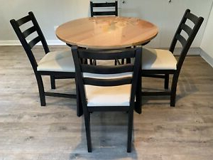Ikea Gamlared Dining Table With 4 X Lerhamn Chairs Set Intended For Best And Newest Genao 35'' Dining Tables (View 6 of 25)