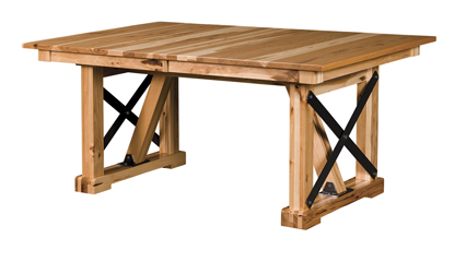 Industrial Trestle Dining Table Pertaining To 2019 Trestle Dining Tables (View 6 of 25)