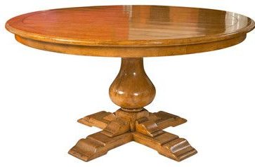 Jazmin Pedestal Dining Tables For Fashionable Pedestal Dining Table Attributed To Bausman Furniture (View 18 of 25)