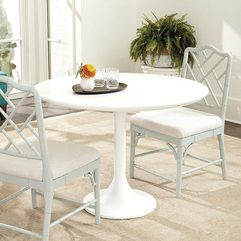 Jazmin Pedestal Dining Tables Regarding Current Wynton Pedestal Dining Table Look For Less (View 22 of 25)