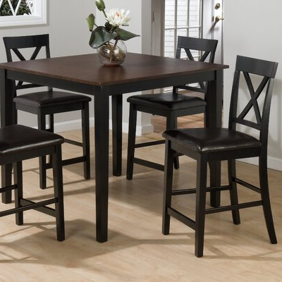 Jofran Burly 5 Piece Counter Height Dining Table Set With Latest Hearne Counter Height Dining Tables (View 25 of 25)