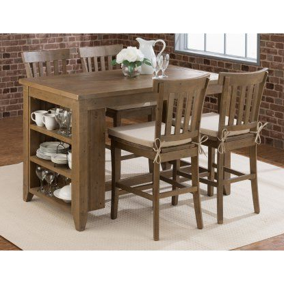 Jofran Slater Mill Counter Height Table With Storage In 2020 Mciver Counter Height Dining Tables (View 3 of 25)