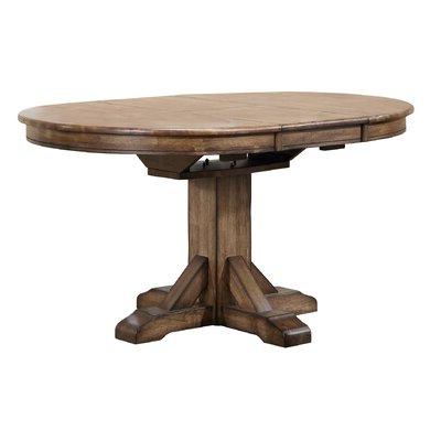 Joss & Main Regarding 2019 Rubberwood Solid Wood Pedestal Dining Tables (View 24 of 25)