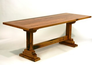 Kara Trestle Dining Tables For Fashionable Reclaimed Trestle Table – Dining Tables – Nashville – (View 16 of 25)