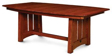 Kara Trestle Dining Tables With Regard To Most Recently Released Mccoy Trestle Table – Craftsman – Dining Tables – Dallas (View 4 of 25)