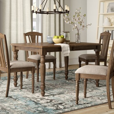 Katarina Extendable Rubberwood Solid Wood Dining Tables Within Latest Butterfly Leaf Kitchen & Dining Tables You'll Love In (View 5 of 25)