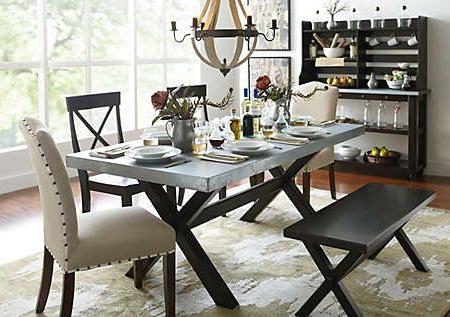 Keaton Trestle Table – Art Van Furniture Height – (View 4 of 25)