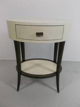 Kent Ivory Vellum And Grey Oak Bedside Table (View 19 of 25)