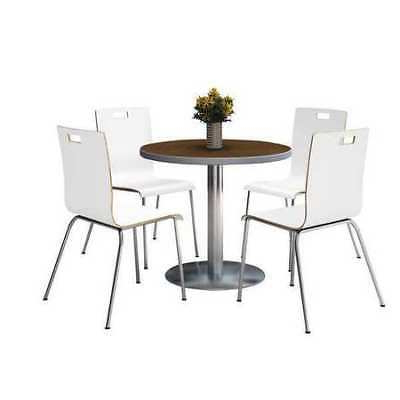 Kfi T36rd B1922sl Wl 9222ch Wh Round Breakroom Table And For Recent Round Breakroom Tables And Chair Set (View 23 of 25)