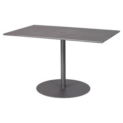 Kirt Pedestal Dining Tables Intended For Fashionable Outdoor Woodard Solid Top 48 X 30 Rectangular Pedestal (View 25 of 25)