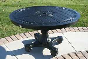 """Kirt Pedestal Dining Tables Intended For Most Current Outdoor Patio Furniture 54"""" Dining Table Pedestal Base (View 23 of 25)"""