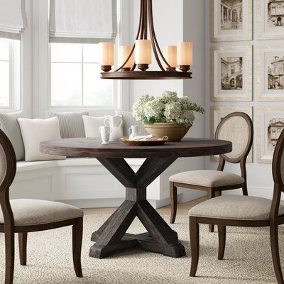 Kirt Pedestal Dining Tables Regarding Famous Laurel Foundry Modern Farmhouse Colborne Dining Table (View 18 of 25)
