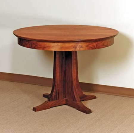 Kirt Pedestal Dining Tables With Regard To Recent Pedestal Round Dining Table – Traditional – Dining Tables (View 10 of 25)