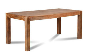 Latest Alfie Mango Solid Wood Dining Tables Throughout Dakota Light/natural Mango Dining Table 180cm 6 Seater (View 3 of 25)