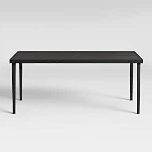 Latest Amazon : Threshold Fairmont Steel Patio Dining Table Within Bechet 38'' Dining Tables (View 6 of 25)