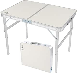 Latest Amazon: Vingli 3ft Aluminum Folding Table,35.4''l X 23 In Crilly (View 14 of 25)