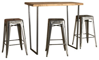 Latest Brooklyn Bar Height Table, Natural, 60x30, Standard In Dankrad Bar Height Dining Tables (View 22 of 25)