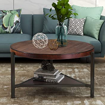 Latest Dellaney 35'' Iron Dining Tables With Regard To Amazon: Round Coffee Table (View 9 of 25)