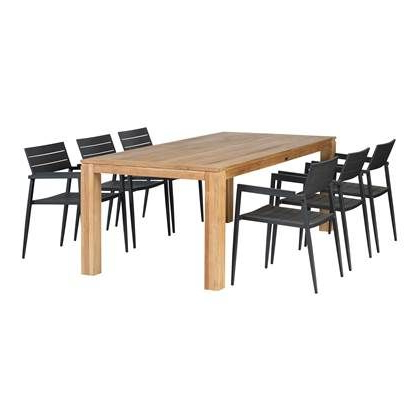 Latest Exotan Stella & Venice Tuinset 220 X 100 Cm 6 Persoons Inside Bekasi 63'' Dining Tables (View 22 of 25)