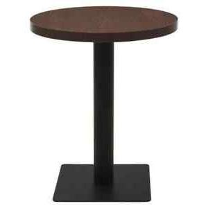 Latest Granger 31.5'' Iron Pedestal Dining Tables In Vidaxl Bistro Table Dark Ash (View 3 of 25)