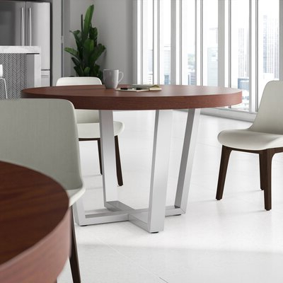 Latest Midtown Solid Wood Breakroom Tables Within Round Walnut Kitchen & Dining Tables You'll Love In (View 4 of 25)