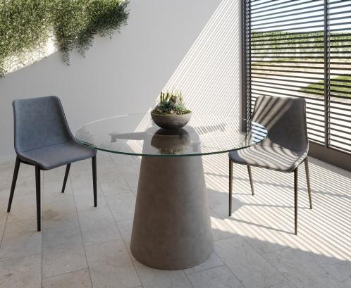 Latest Nova Domus Essex – Contemporary Concrete, Metal And Glass Inside Eleni 35'' Dining Tables (View 24 of 25)