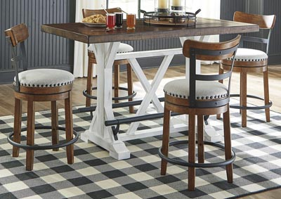 Latest Valebeck Brown Counter Height Dining Table W/4 Backed Inside Hearne Counter Height Dining Tables (View 9 of 25)