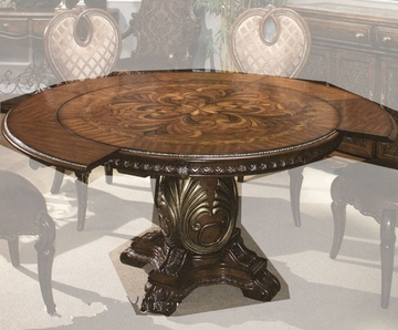 Latest Yaqub 39'' Dining Tables In Aico Round Dining Table Sovereign Ai 57001tb (View 9 of 25)