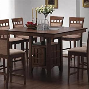 Liesel Bar Height Pedestal Dining Tables For 2020 Amazon – Counter Height Dining Table With Lazy Susan (View 8 of 25)