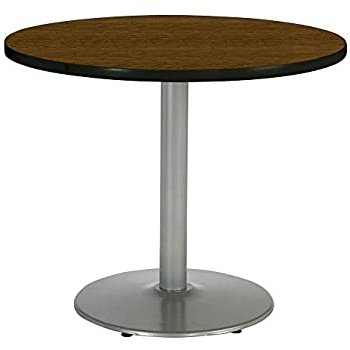 """Liesel Bar Height Pedestal Dining Tables Regarding Widely Used Amazon: Kfi Round Bar Height Pedestal Table – 42"""" Dia (View 21 of 25)"""
