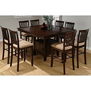 Liesel Bar Height Pedestal Dining Tables With Most Recent Amazon: Jofran Counter Height Dining Table W Butterfly (View 4 of 25)