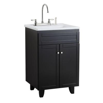Manox All In One 24 1/4 In. Laundry Vanity In Espresso And For Widely Used Larkin (View 6 of 9)