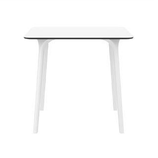 Maya Square Outdoor Dining Table 32 Inch White Isp685 Whi Inside Well Known Cainsville 32'' Dining Tables (View 8 of 25)