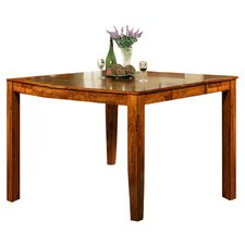 Mccrimmon 36'' Mango Solid Wood Dining Tables Inside Latest Oak Counter Height Kitchen & Dining Tables (View 7 of 25)
