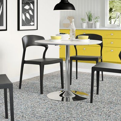 Metal Base Dining For Newest Counter Height Pedestal Dining Tables (View 5 of 25)