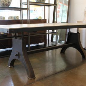 Metropolis Dining Table (floor Model)jerod Lazan For Well Liked Leonila 48'' Trestle Dining Tables (View 18 of 25)