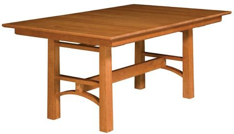Midtown Solid Wood Breakroom Tables With Regard To Most Up To Date Bridgeport Trestle Table (View 17 of 25)