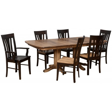 Millsdale Dining Group W/double Pedestal Table – Cedar In 2019 Sevinc Pedestal Dining Tables (View 3 of 25)