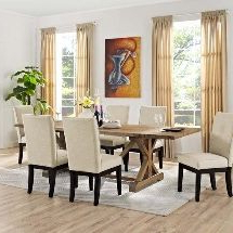 Minerva 36'' Pine Solid Wood Trestle Dining Tables For Most Popular 7 Best Ranchy Rustic! Images (View 13 of 25)