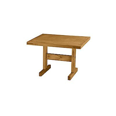 Minerva 36'' Pine Solid Wood Trestle Dining Tables Throughout Trendy Kitchen/dining Table, Solid Wood, This End Up Brand (View 3 of 25)