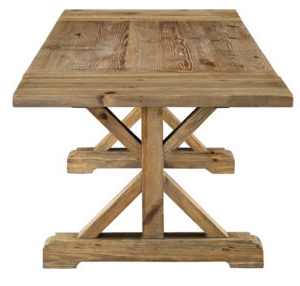Minerva 36'' Pine Solid Wood Trestle Dining Tables With Latest Sophia Extendable Wood Dining Table (View 24 of 25)
