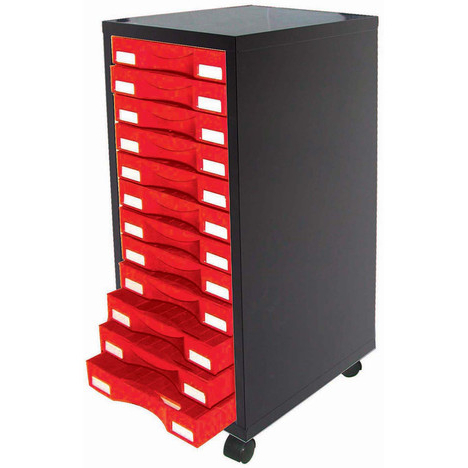 "Mode 72"" L Breakroom Tables For Well Known Module Brico Box 12 Tiroirs Sur Roulettes Pas Cher À Prix (View 12 of 25)"