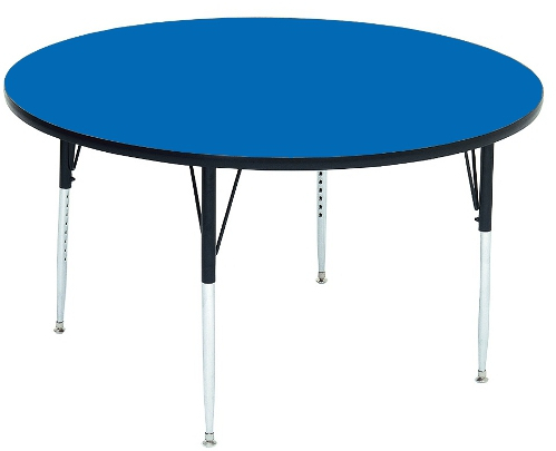 Mode Square Breakroom Tables Inside Preferred Round Laminate Top Activity Table (View 6 of 25)