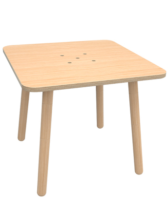 Mode Square Breakroom Tables With Regard To 2020 Kindertisch Table Square In Buche Natur (80 X 80) (View 25 of 25)