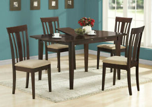 Monarch Transitional Dining Table In Cappuccino Finish I Throughout Well Known Hitchin 36'' Dining Tables (View 23 of 25)