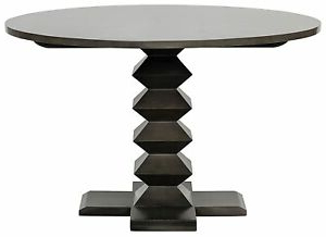 """Monogram 48'' Solid Oak Pedestal Dining Tables In Most Up To Date 48"""" Round Dining Table Solid Mahogany Wood Rubbed Black (View 17 of 25)"""