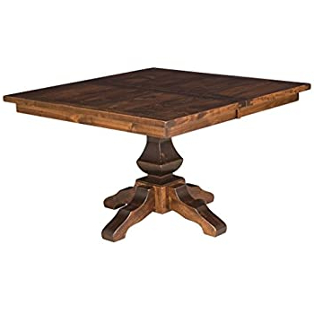 """Monogram 48'' Solid Oak Pedestal Dining Tables Intended For Recent Amazon – Amish Lincoln 48"""" Solid Quarter Sawn White (View 5 of 25)"""