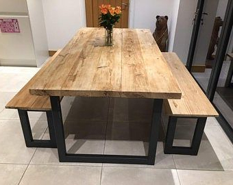 Monogram 48'' Solid Oak Pedestal Dining Tables With Regard To Most Recently Released Light Oak Coloured Solid Wood Industrial Dining Table (View 25 of 25)