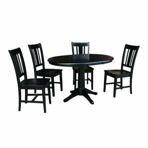 """Montauk 36'' Dining Tables In Trendy 36"""" Round Extension Dining Table With 2 San Remo Chairs (View 11 of 25)"""